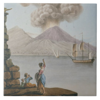 Eruption of Vesuvius, Monday 9th August 1779, plat Tile
