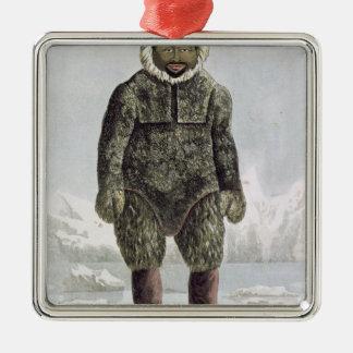 Ervick, a Native of Prince Regent's Bay, engraved Metal Ornament