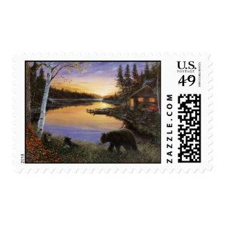 ervin-molnar-cabin-on-the-pond postage