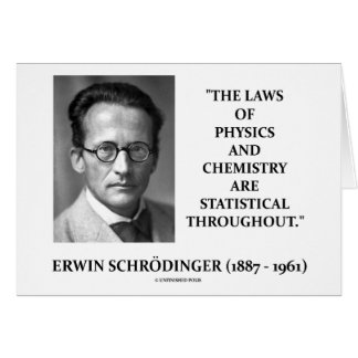 Erwin Schrödinger Physics Chemistry Statistical Cards