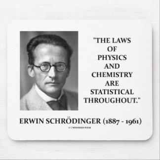 Erwin Schrödinger Physics Chemistry Statistical Mouse Pad