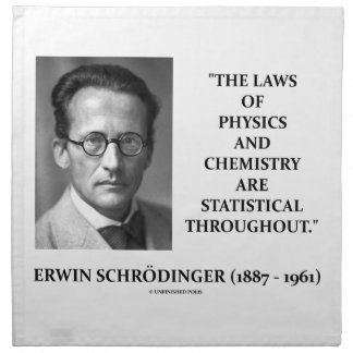 Erwin Schrödinger Physics Chemistry Statistical Napkin