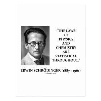 Erwin Schrödinger Physics Chemistry Statistical Post Card