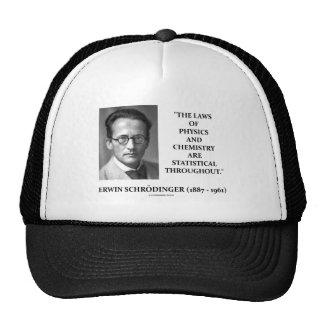 Erwin Schrödinger Physics Chemistry Statistical Trucker Hat