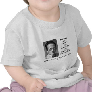 Erwin Schrödinger Physics Chemistry Statistical Shirt