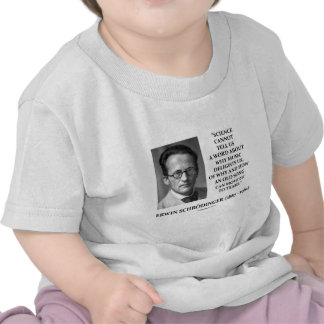 Erwin Schrödinger Science Cannot Tell Us Old Song Tees