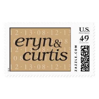 eryn & curtis monogram postage