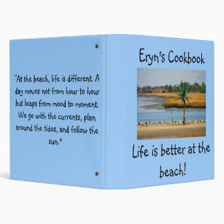 Eryn's cook book 3 ring binders