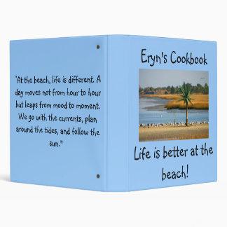 Eryn's cook book binder