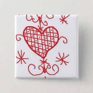 Erzulie Red Heart Veve Voodoo Hoodoo Love Sigil Pinback Button
