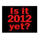 ¿Es 2012 todavía? El día pasado de Obama Tarjeta Postal