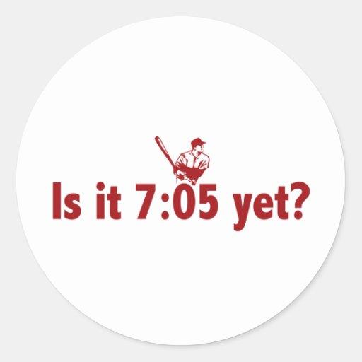 ¿Es 7:05 todavía? (Béisbol de Philly) Pegatina Redonda