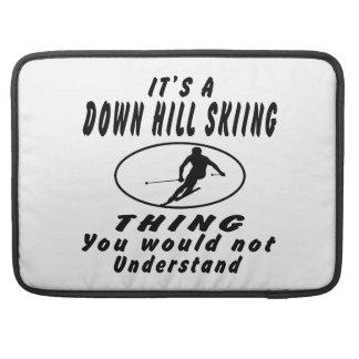 Es abajo una cosa del esquí de la colina fundas macbook pro