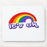 """""""Es aceptable"""" con el arco iris Alfombrillas De Ratones"""