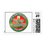 Es ACEPTABLE decir Felices Navidad a mí los sellos