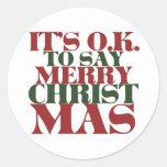 Es ACEPTABLE decir Felices Navidad Pegatina