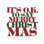 Es ACEPTABLE decir Felices Navidad Tarjetas Postales