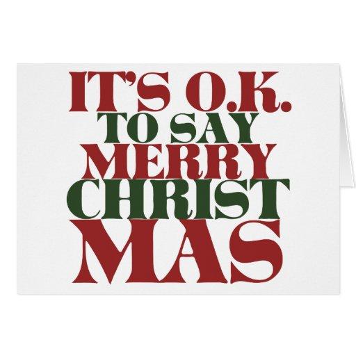 Es ACEPTABLE decir Felices Navidad Tarjetón