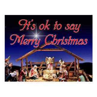 Es aceptable decir la postal de las Felices