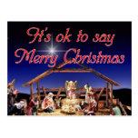 Es aceptable decir la postal de las Felices Navida