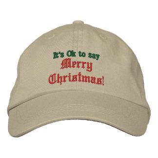 Es aceptable decir las Felices Navidad gorra, gorr Gorra De Béisbol Bordada