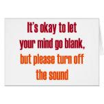 Es aceptable dejar su mente ir espacio en blanco felicitacion
