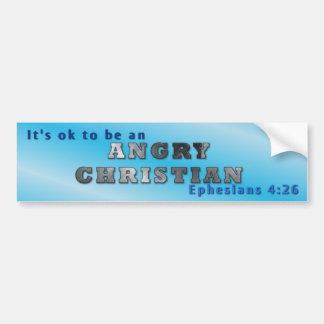Es aceptable ser un cristiano enojado pegatina de parachoque