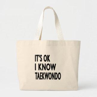 Es aceptable yo conoce el Taekwondo Bolsa