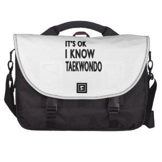 Es aceptable yo conoce el Taekwondo Bolsas Para Portátil