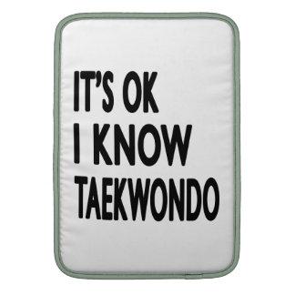 Es ACEPTABLE yo conoce el Taekwondo Fundas Macbook Air