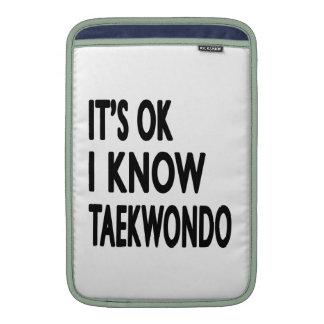 Es ACEPTABLE yo conoce el Taekwondo Funda MacBook