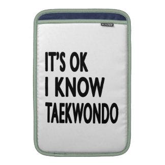 Es aceptable yo conoce el Taekwondo Fundas MacBook