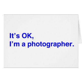 Es ACEPTABLE, yo es fotógrafo Tarjeta De Felicitación