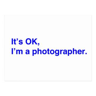 Es ACEPTABLE, yo es fotógrafo Tarjeta Postal