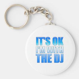 Es aceptable, yo está con DJ - disc jockey Llaveros