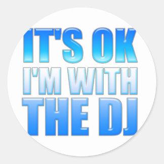 Es aceptable, yo está con DJ - disc jockey Pegatinas