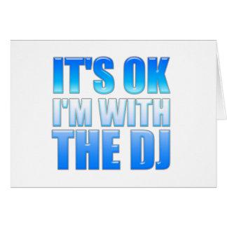 Es aceptable yo está con DJ - disc jockey Felicitacion