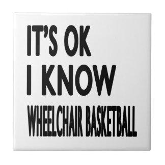 Es ACEPTABLE yo sabe baloncesto de silla de ruedas Teja Ceramica