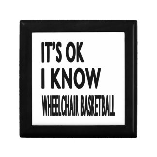 Es ACEPTABLE yo sabe baloncesto de silla de ruedas Caja De Recuerdo