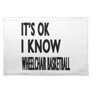 Es ACEPTABLE yo sabe baloncesto de silla de ruedas Mantel