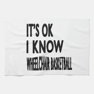 Es ACEPTABLE yo sabe baloncesto de silla de ruedas Toallas De Mano