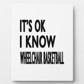 Es ACEPTABLE yo sabe baloncesto de silla de ruedas Placas