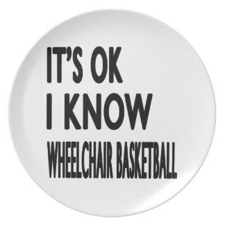 Es ACEPTABLE yo sabe baloncesto de silla de ruedas Plato Para Fiesta