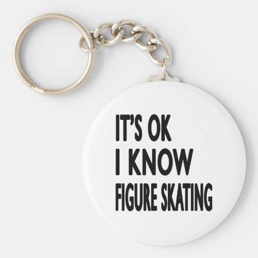 Es ACEPTABLE yo sabe danza del patinaje artístico Llaveros Personalizados