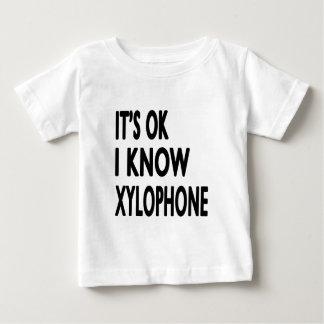 Es aceptable yo sabe el xilófono t shirt