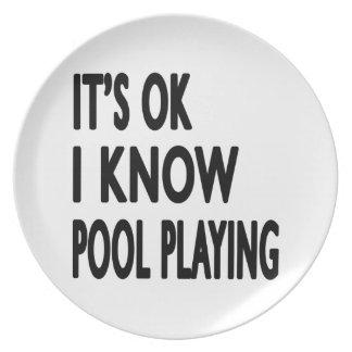 Es ACEPTABLE yo sabe jugar de la piscina Platos De Comidas