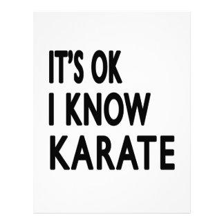 Es aceptable yo sabe karate membretes personalizados