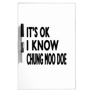 Es aceptable yo sabe la gama del MOO de Chungkin Tablero Blanco