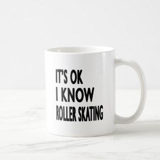Es ACEPTABLE yo sabe patinaje sobre ruedas Taza Básica Blanca