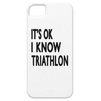 Es ACEPTABLE yo sabe Triathlon iPhone 5 Cárcasas